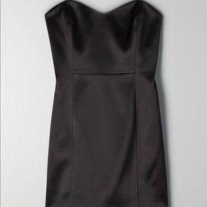 Aritzia Strapless Satin Mini Dress